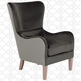 Elle Decor Wingback Upholstered Accent Chair, Farmhouse Armchair for Living Room, Two..