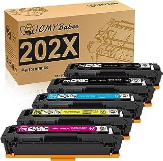 CMYBabee Compatible Toner Cartridges Replacement for HP 202X HP CF500X for HP Laserjet Pro M281fdw M281cdw M254dw M254dn M...