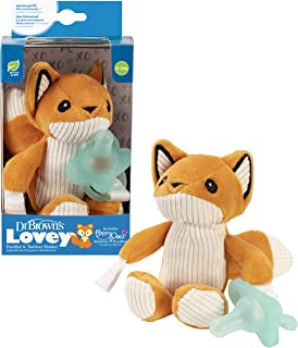 Dr Brown's Franny The Fox Lovey W/ Aqua One-Piece Pacifier