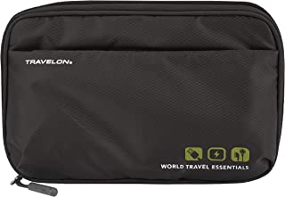 Travelon World Travel Essentials Tech Organizer, Black, One Size