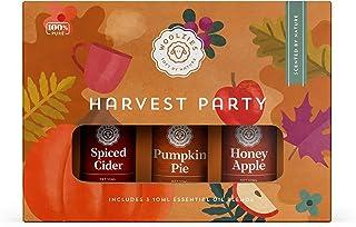 Woolzies Harvest Party Autumn Essential Oil Set of 3 Includes Spiced Cider, Pumpkin Pie, Honey Apple, Essentail Oil Blend
