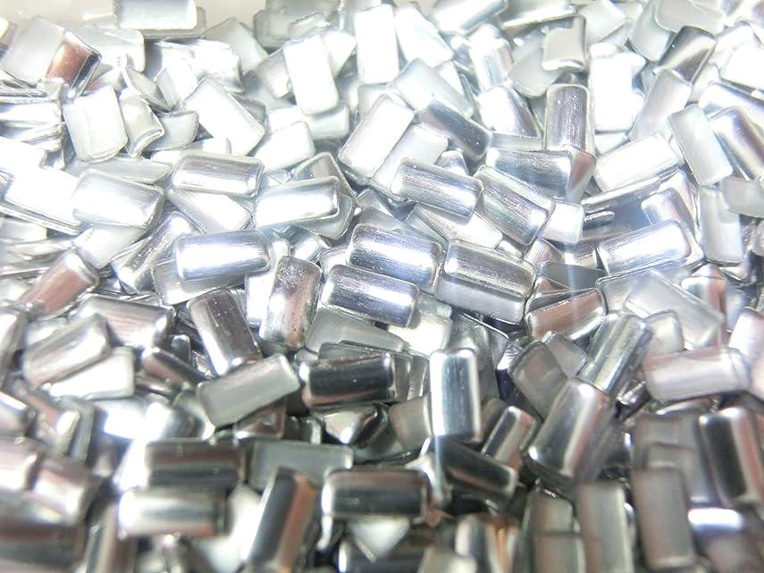 忠実に抜本的な不当【ラインストーン77】 多種類 スタッズ 約200粒 長方形(レクタングル) シルバー 2×4mm
