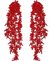 Oscar de la Renta - Beaded Cascade Drop Earrings