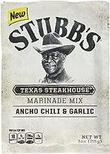Stubb's Ancho Chili & Garlic Texas Steakhouse Marinade Mix, 1 oz (Pack of 12)