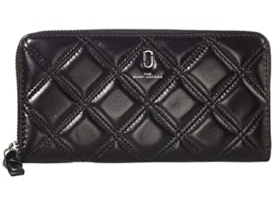 Marc Jacobs The Quilted Softshot Standard Continental Wallet (Black) Wallet Handbags