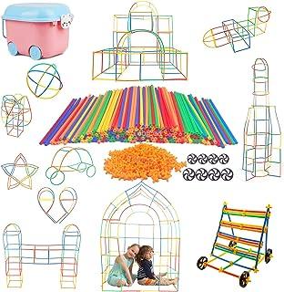 Atoyinn 新感覚チューブ式 ブロック 子供 積み木 セット 物作りやアクティビティにも使える 男の子 女の子 誕生日のプレゼント 組み立て DIY 立体パズル