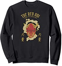 Red oni yokai design for Japanese kanji, demon & devil fans Sweatshirt
