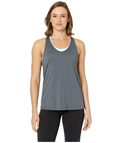 manduka Breeze Racerback Tank Top (Charcoal) Women