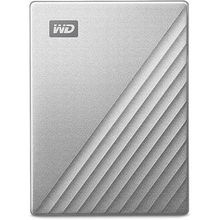 WD ポータブルHDD 2TB USB Type-C シルバー My Passport Ultra 暗号化 パスワード保護 外付けハードディスク / 3年保証 WDBC3C0020BSL-WESN