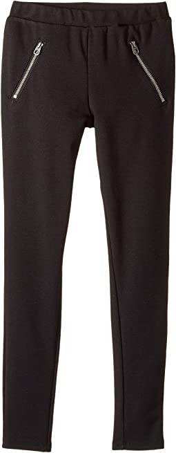 Splendid Littles - Ponte Leggings Front Zipper (Big Kids)