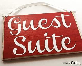 8x6 Guest Suite Custom Wood Sign Bedroom Bed and Breakfast Hotel Spa Sleep Resort Door Plaque