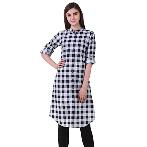 6333cc73bca White with Black Kurti: Buy White with Black Kurti Online at Best ...