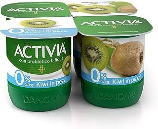 Activia Yogurt 0% Grassi, Kiwi, 4 x 125g