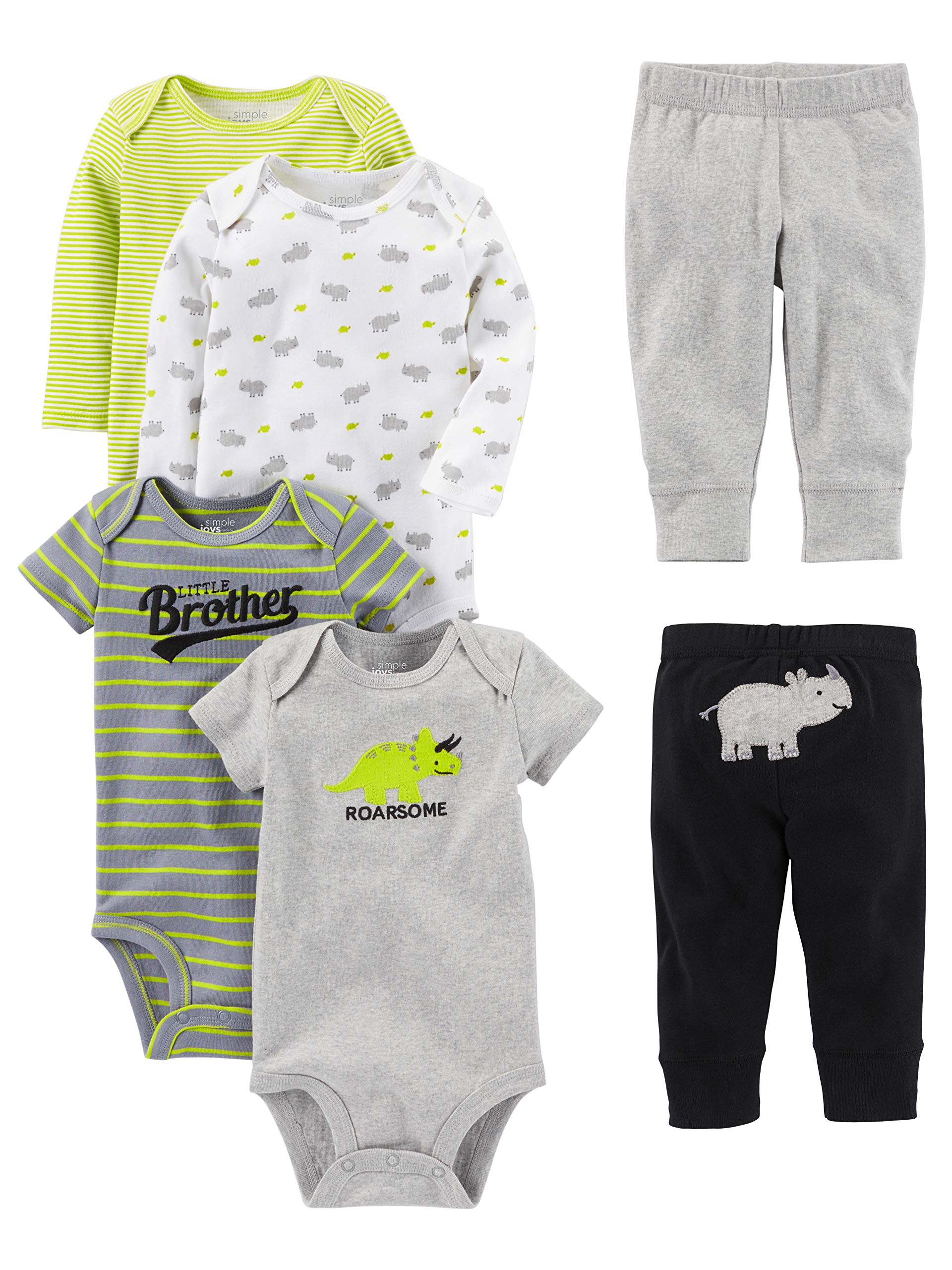 and Pant Playwear Set Simple Joys by Carters Baby Boys 3-Piece Jacket Long-Sleeve Shirt