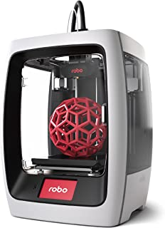 """Robo R2 Smart Assembled 3D Printer with WiFi, 8""""x8""""x10"""" (197x197x254 mm) Build Volume for Educators and Innovators"""