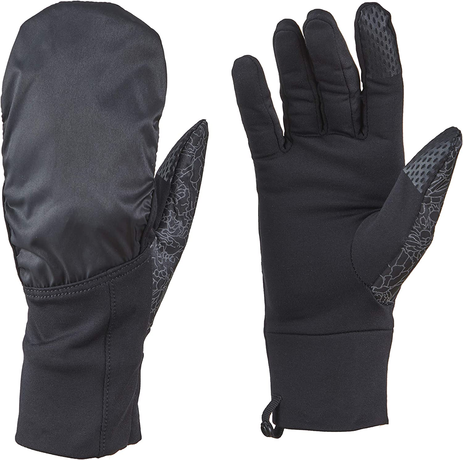 VIA By SKL Style womens Reflective Convertible Gloves