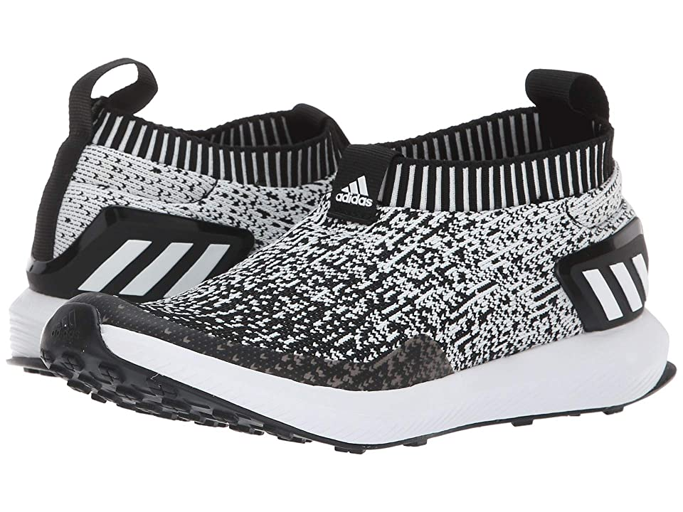 adidas Kids RapidaRun Laceless Knit (Big Kid) (Black/White) Kid