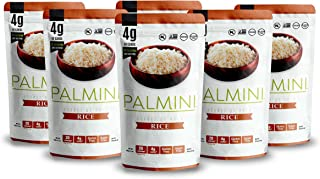 NEW!! Palmini Low Carb Rice | 4g of Carbs | As Seen On Shark Tank | Gluten Free | (12 Ounces Pouch (Pack of 6))