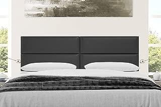 Vänt Upholstered Headboards - Wall Mounted Panels - Vintage Leather Jet Black - King Size