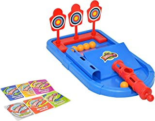 Home-X Mini Arcade Desktop Ball Shoot & Score Game, Bulls Eye Target Toy (Ages 5 and Up)