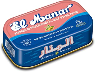 Sponsored Ad - Canned Sardines in Olive Oil - Canned Mediterranean Sardines without Heads, from El Manar - 12-Pack of 125g...