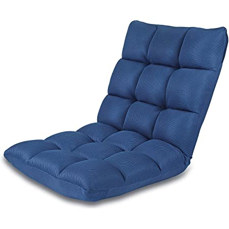 Color : Green Floor Chair Floor Chair 5 Gears Adjustable Leisure Meditation Chair Sofa Lounge Chair with Backrest Removable and Washable Ergonomics Leisure Bed Chair