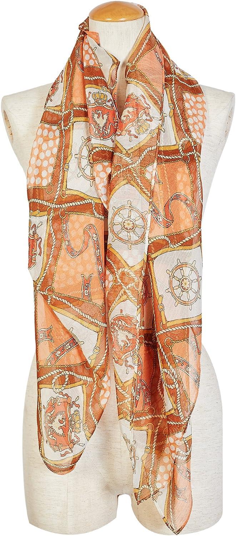 Libra & Leo Light Weight Fashion Sailing Theme Print Infinity Scarves Wraps Shawls