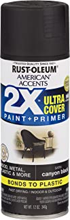 Rust-Oleum 327916 American Accents Spray Paint, 12 oz, Satin Canyon Black