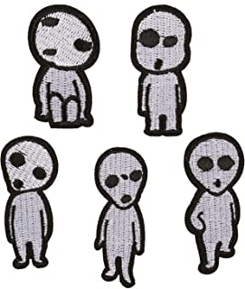 U-Sky 5pcs Assorted Alien Iron on Patches for Kids Girls Boys Clothing Cute Embroidered Sew on Appliques Patches for Jean Jackets Vest Backpacks Bags Caps Logo Hole Dress Clothes DIY Accessary
