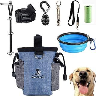 GOTONE Kit de dressage pour chien Pochette de friandises pour chiens, sac de friandises pour chiens et sonnettes réglables...