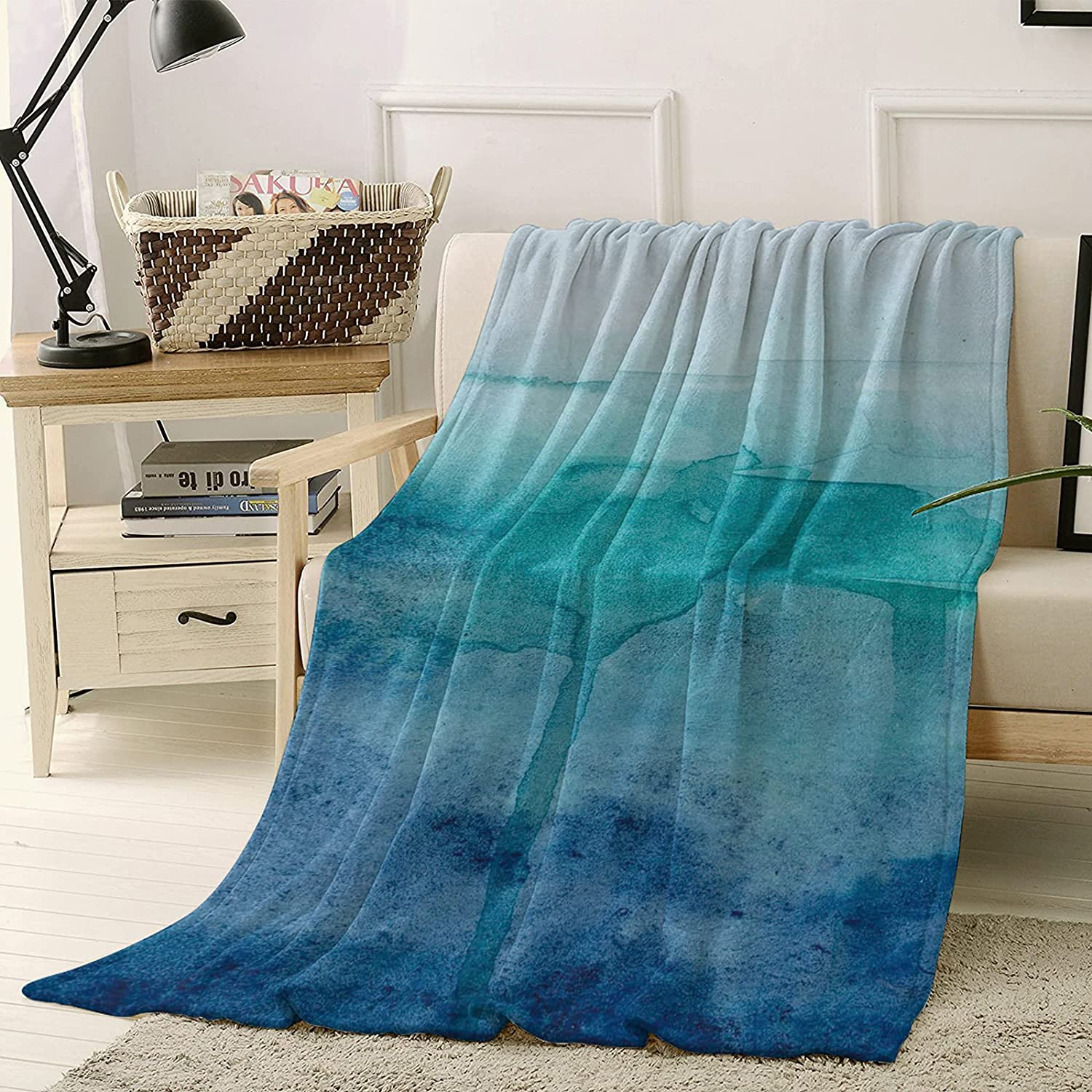 Watercolor Throw Blankets At the Selling rankings price of surprise for Couch Super Bed Blan and Soft