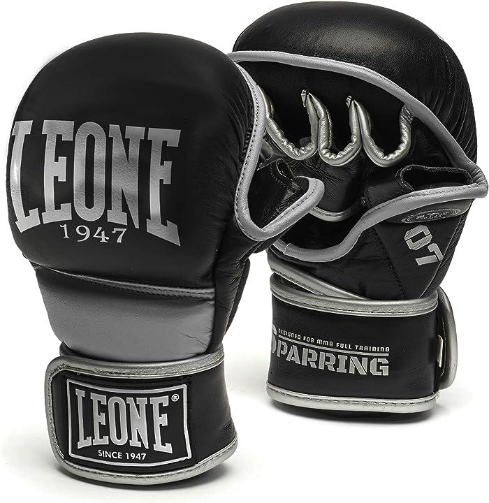 Guantoni boxe sparring partner - leone 1947 - guanti mma sparring guanti mma, unisex – adulto, nero, m GP107