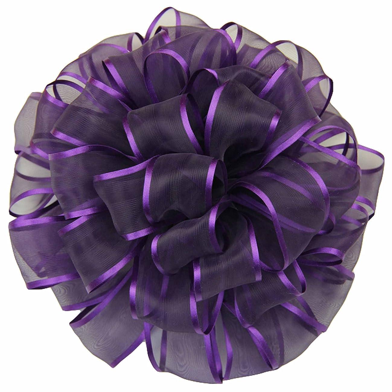 Offray Wired Edge Arabesque Craft Ribbon, 1 1/2-Inch x 9-Feet, Purple