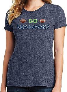 RHEYJQA Go Seahawks Women's T-Shirt Sports Team