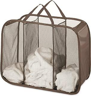 Whitmor Pop & Fold Laundry Sorter, Chocolate