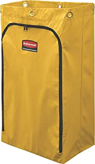 Rubbermaid Commercial Cleaning Cart Bag, 24 Gallon, Yellow, 1966719