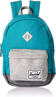 Herschel Kids  Heritage Mini Children s Backpack Tile Blue Light Mid Grey  Crosshatch 2d1e3de31042e