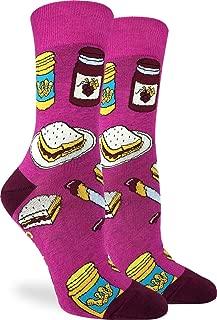 Good Luck Sock Women's Peanut Butter & Jam Socks - Purple, Adult Shoe Size 5-9
