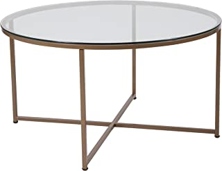 Superieur Flash Furniture Greenwich Collection Glass Coffee Table With Matte Gold  Frame   NAN JH