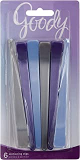 Goody Styling Essentials Sectioning Hair Clip, 6 Count (Pack of 2) Colors May Vary
