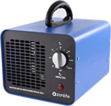 Commerciële ozongenerator, 10.000 mg/u Industriële ozonluchtreiniger, 220V ozonapparaat met timer voor kamers, rook, auto'...
