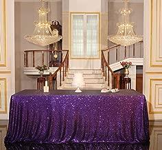 PartyDelight Sequin Tablecloth, Wedding, Sweetheart, Christmas Tree, Rectangular, 48