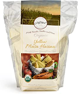 Gold Mine Yellow Corn Masa Harina - USDA Organic - Macrobiotic, Vegan, Kosher and Gluten Free Flour for Healthy Mexican Di...