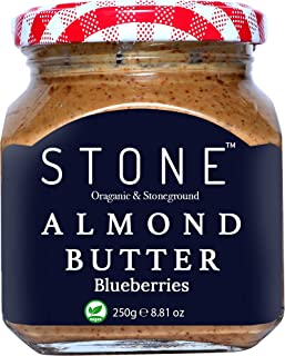 FITJARS Stone Keto Diet Vegan Organic Almond Butter (Badam) with Blueberries , 250 g