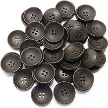 茶色系 ナット調ボタン 18mm 4穴 コート袖口 カーディガン 最適 50個入り SP5121T-18-BR-754