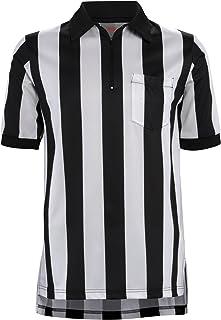 Adams Football Officials Referee Short Sleeve Shirt 2-1/4 Stripe, Black/White, X-Large