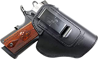 Black Scorpion Gear Leather IWB Holster | fits Beretta 84/M92, 92FS; CZ75 SP-01; Glock 17,19,20,21,22,23,24,25,26; H&K P7, P30, VP9; Kahr P30,P40,P45; P220,P226,P229 | and More - Made in USA