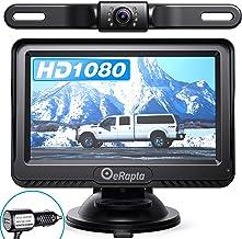 eRapta Backup Camera ERT01 with 4.3 inch Monitor License Plate Back Up Camera for Car Pickup Truck SUV Rear View Camera Ba...