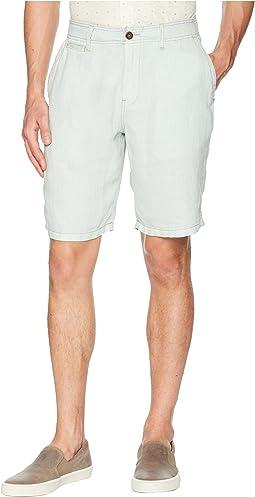 Lucky Brand Laguna Linen Flat Front Shorts