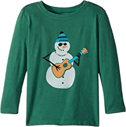Life is Good Kids - Jammin' Snowman Long Sleeve Crusher Tee (Toddler)